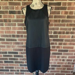 Banana Republic black sleeveless mesh dress